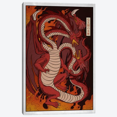 Targaryen House with Border Canvas Print #ICA1261} by 5by5collective Canvas Print
