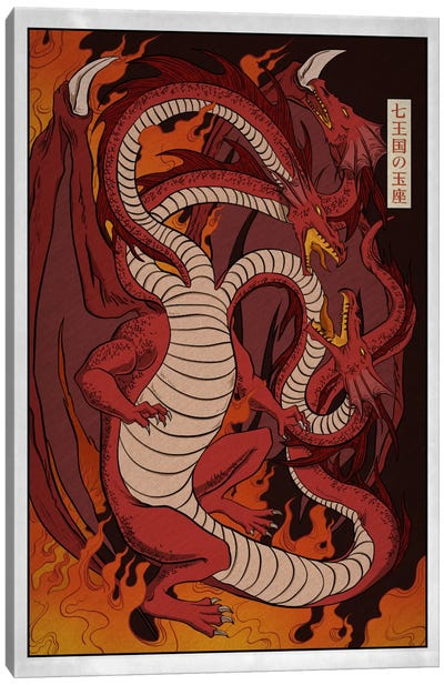Targaryen House with Border Canvas Art Print