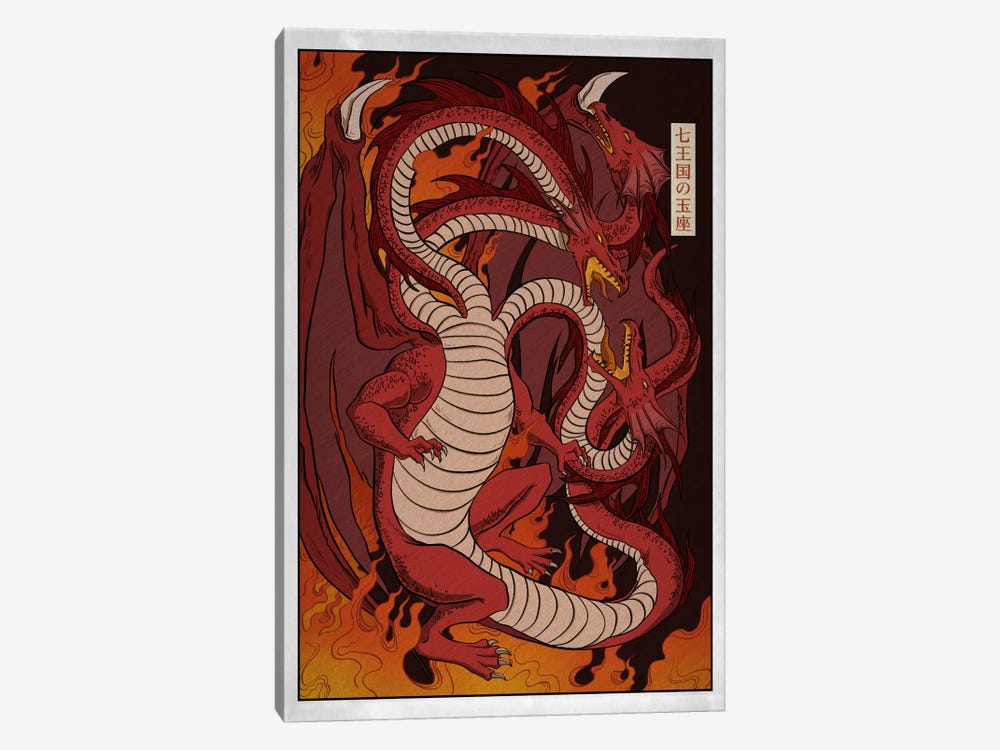 Targaryen House with Border by 5by5collective 1-piece Canvas Art Print