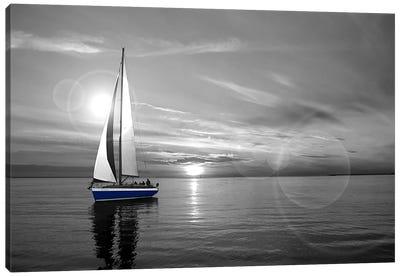 Sailboat Color Pop Canvas Print #ICA1263