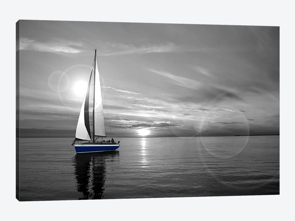 Sailboat color pop 1 piece art print