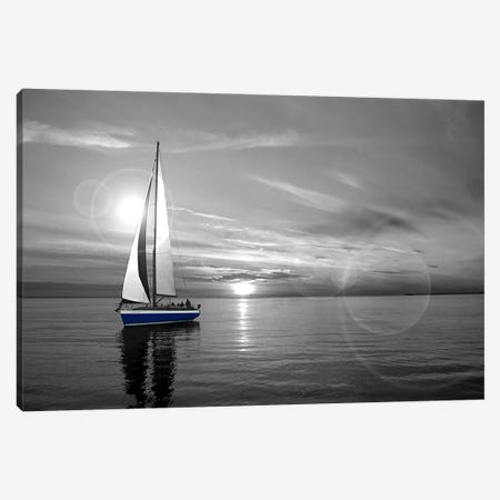 Sailboat Color Pop Canvas Print #ICA1263} by Unknown Artist Canvas Art Print