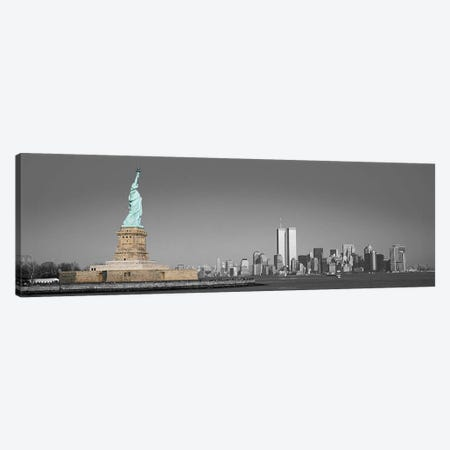 New York Panoramic Skyline Cityscape Color Pop Canvas Print #ICA1264} Canvas Art