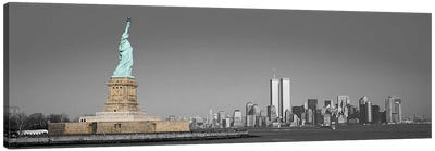 New York Panoramic Skyline Cityscape Color Pop Canvas Print #ICA1264