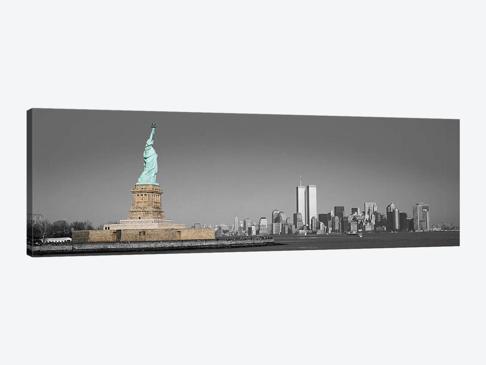 New York Panoramic Skyline Cityscape Color Pop 1-piece Canvas Wall Art