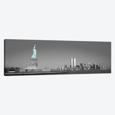 New York Panoramic Skyline Cityscape Color Pop #2 Canvas Print #ICA1265} by Unknown Artist Canvas Artwork