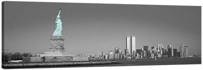 New York Panoramic Skyline Cityscape Color Pop #2 Canvas Art Print
