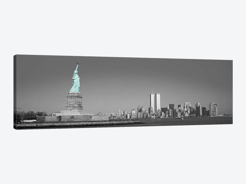 New York Panoramic Skyline Cityscape Color Pop #2 1-piece Canvas Art Print