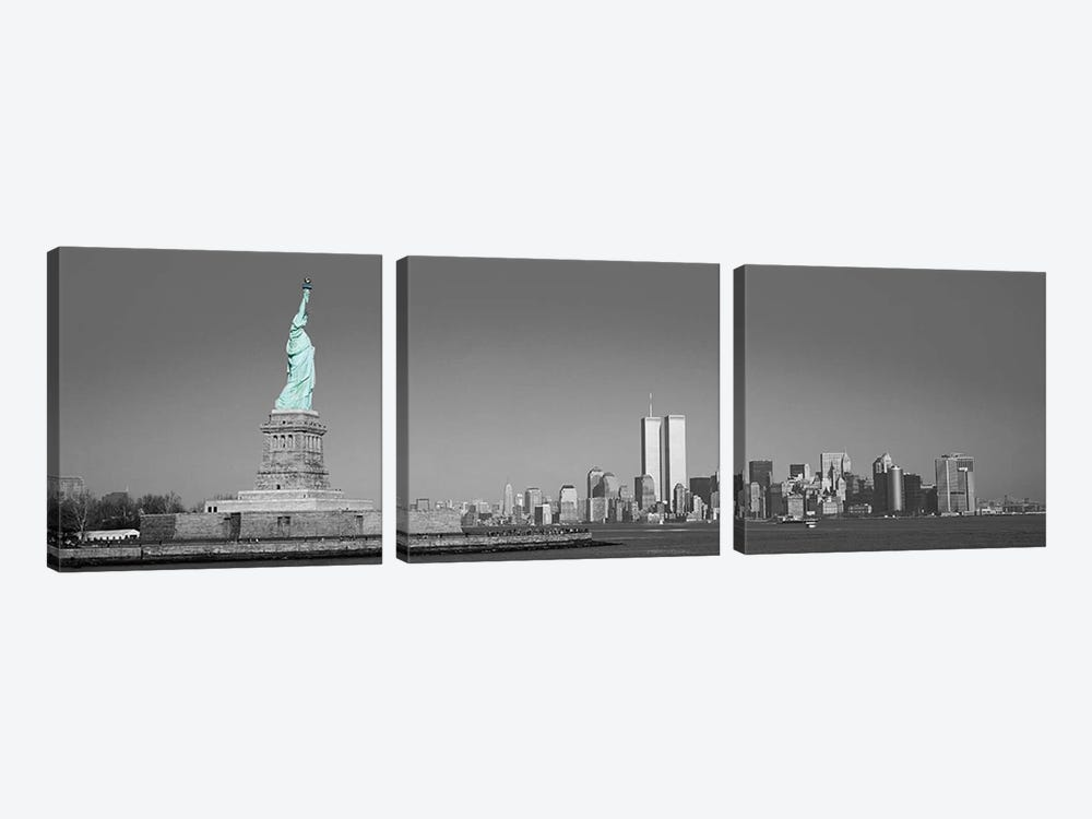 New York Panoramic Skyline Cityscape Color Pop #2 3-piece Art Print