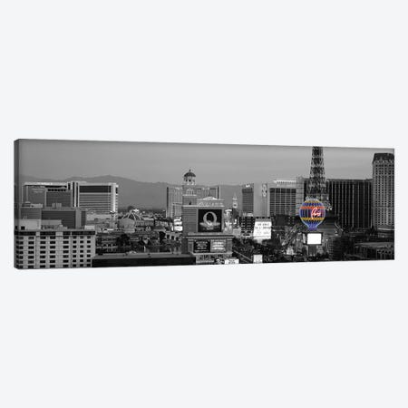 Las Vegas Panoramic Skyline Cityscape (Night) Color Pop Canvas Print #ICA1266} Canvas Wall Art