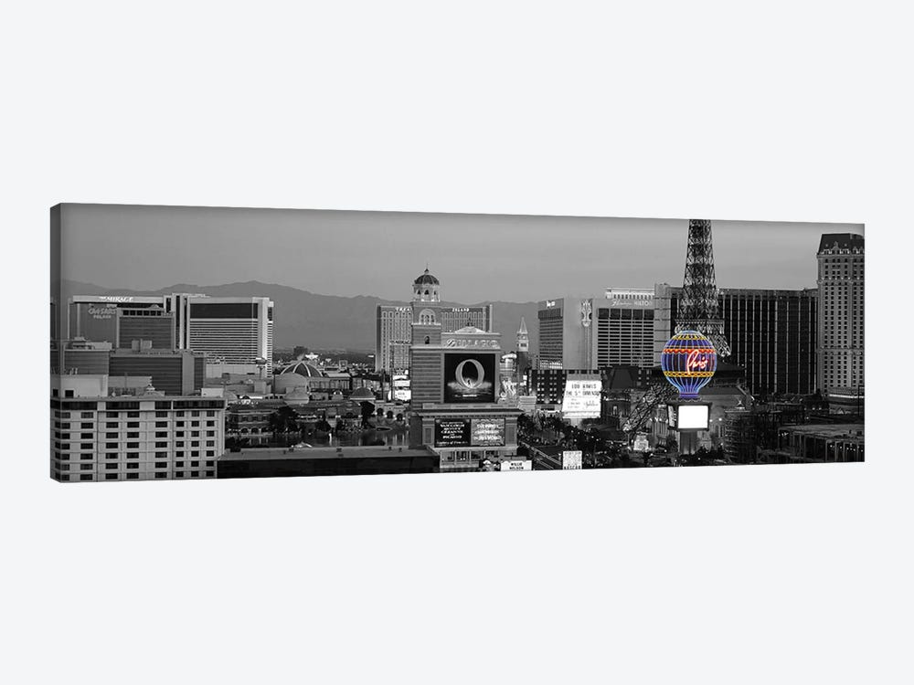 Las Vegas Panoramic Skyline Cityscape (Night) Color Pop 1-piece Canvas Artwork