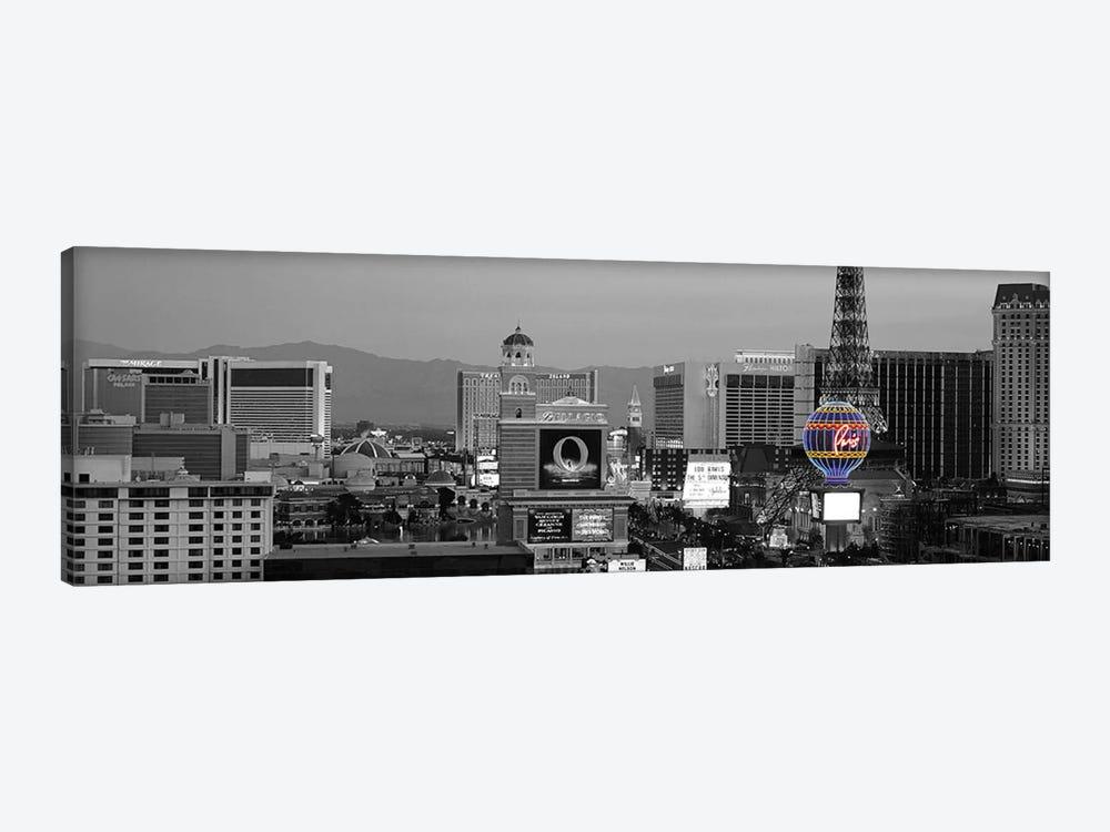 Las Vegas Panoramic Skyline Cityscape (Night) Color Pop by Unknown Artist 1-piece Canvas Artwork