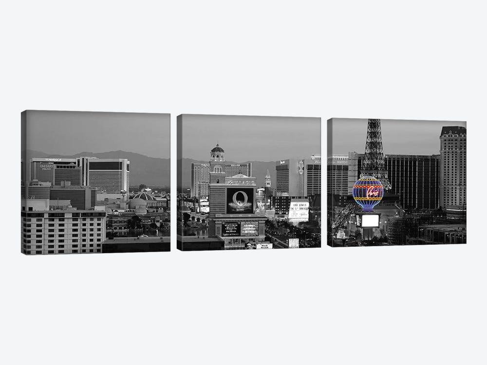 Las Vegas Panoramic Skyline Cityscape (Night) Color Pop by Unknown Artist 3-piece Canvas Artwork