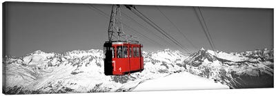 Cable Car Andermatt Switzerland Color Pop Canvas Art Print
