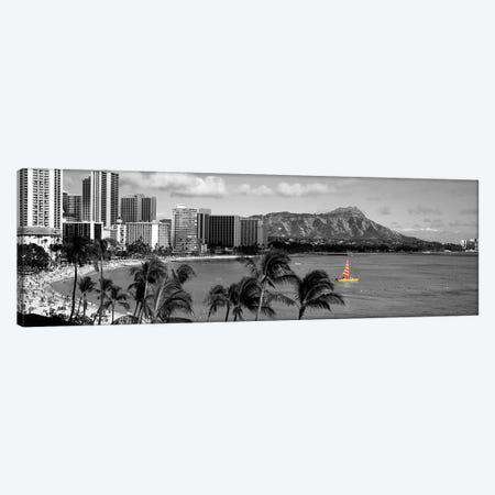 Waikiki Beach, Honolulu, Hawaii, USA Color Pop Canvas Print #ICA1268} by Panoramic Images Canvas Art Print