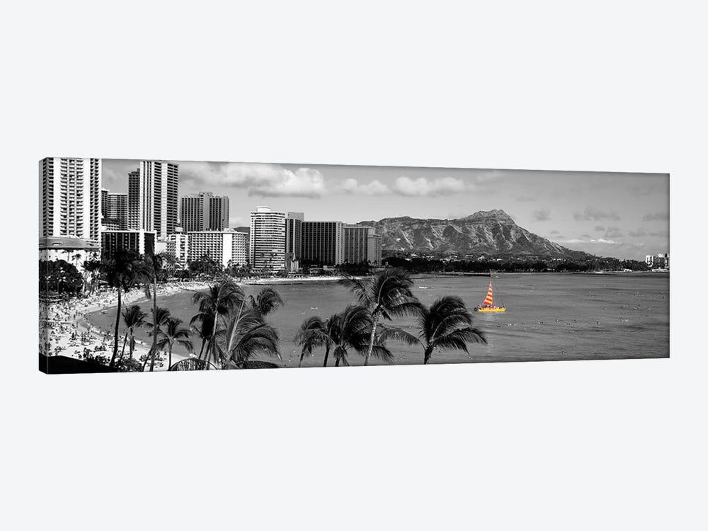 Waikiki Beach, Honolulu, Hawaii, USA Color Pop by Panoramic Images 1-piece Canvas Artwork