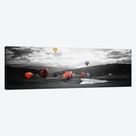 Hot Air BalloonsSnowmass, Colorado, USA Color Pop Canvas Print #ICA1271} by Panoramic Images Canvas Artwork