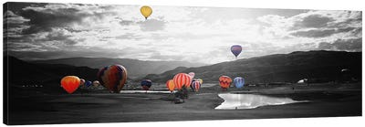 Hot Air BalloonsSnowmass, Colorado, USA Color Pop Canvas Print #ICA1271