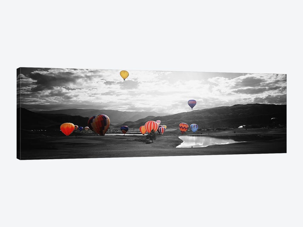 Hot Air BalloonsSnowmass, Colorado, USA Color Pop by Panoramic Images 1-piece Canvas Artwork