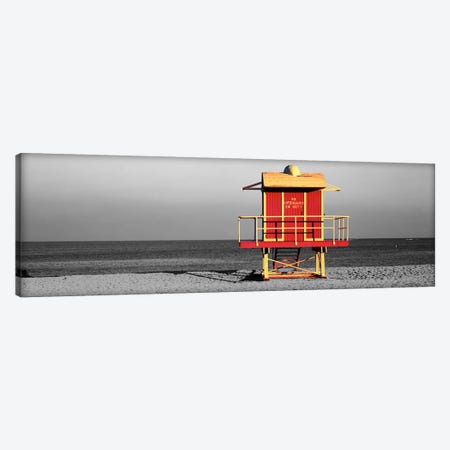 Lifeguard HutMiami Beach, Florida, USA Color Pop Canvas Print #ICA1272} by Panoramic Images Canvas Wall Art