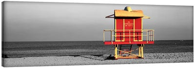 Lifeguard HutMiami Beach, Florida, USA Color Pop Canvas Art Print