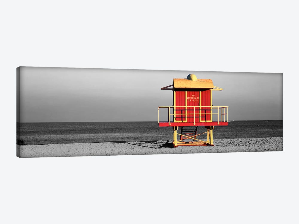 Lifeguard HutMiami Beach, Florida, USA Color Pop by Panoramic Images 1-piece Canvas Print