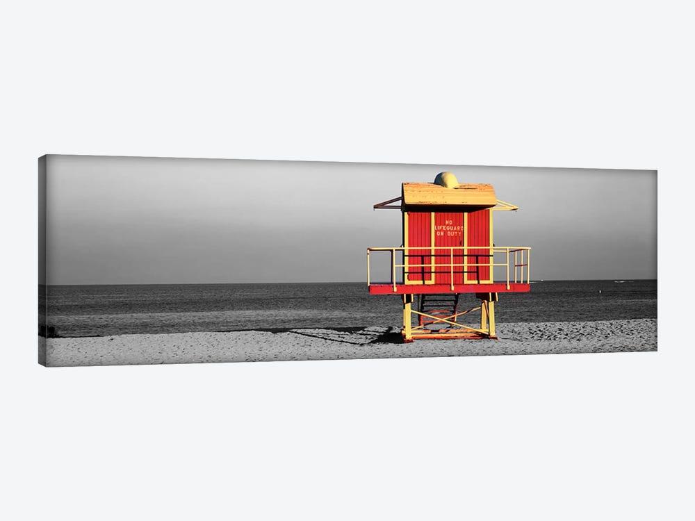 Lifeguard HutMiami Beach, Florida, USA Color Pop by Panoramic Images 1-piece Canvas Print