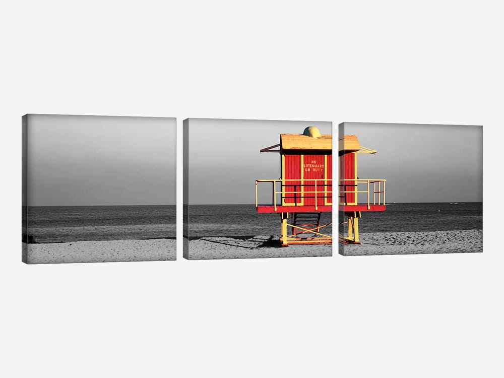 Lifeguard HutMiami Beach, Florida, USA Color Pop by Panoramic Images 3-piece Art Print