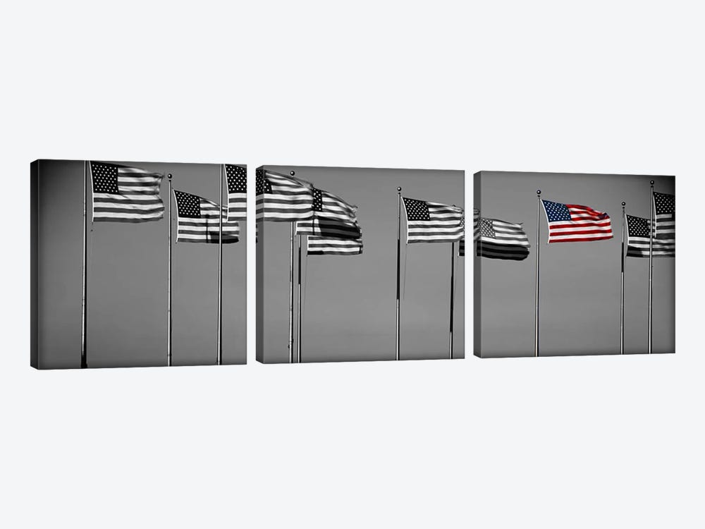 Flags New York NY Color Pop by Panoramic Images 3-piece Canvas Art