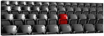 Stadium Seats Color Pop Canvas Art Print