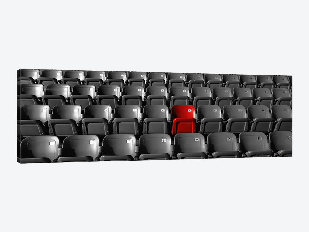 Stadium Seats Color Pop by Panoramic Images 1-piece Art Print