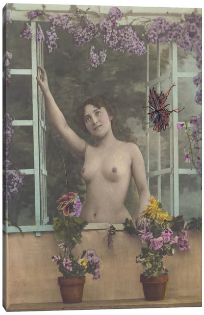 Nude in the Window Canvas Art Print