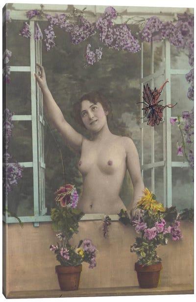 Nude in the Window Canvas Art Print