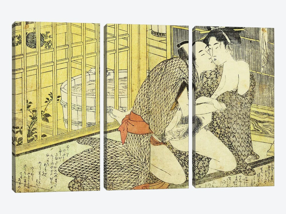 Bathhouse Sessions 2 by Unknown Artist 3-piece Canvas Art Print