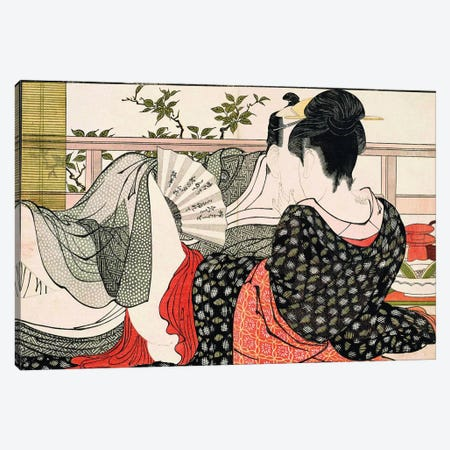 The Way Of The Meshimori (Print #10 From Utamakura) Canvas Print #ICA1295} by Kitagawa Utamaro Canvas Art Print