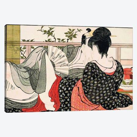 The Way Of The Meshimori (Print #10 From Utamakura) Canvas Print #ICA1295} by Kitagawa Utamaro Canvas Art Print