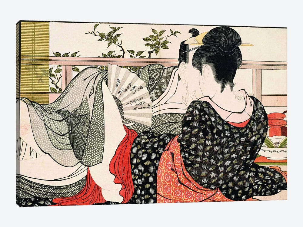 The Way Of The Meshimori (Print #10 From Utamakura) by Kitagawa Utamaro 1-piece Canvas Art