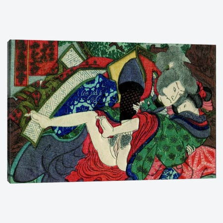 Shunga Canvas Print #ICA1298} by Unknown Artist Canvas Wall Art