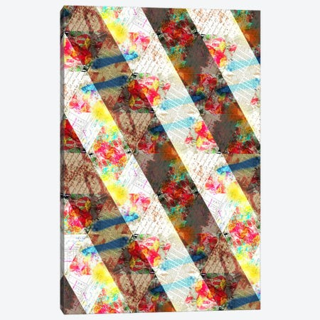 Floral Weave Canvas Print #ICA129} by Unknown Artist Canvas Print