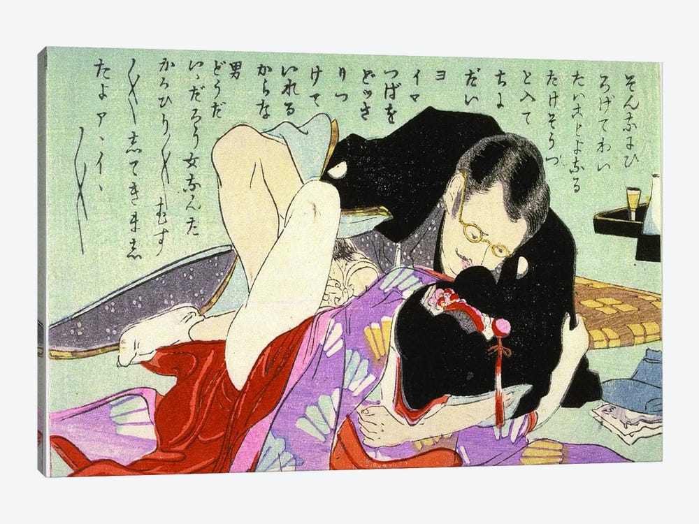 Meiji Shunga 1-piece Canvas Art Print