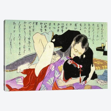 Meiji Period Shunga Canvas Print #ICA1300} by Unknown Artist Canvas Art