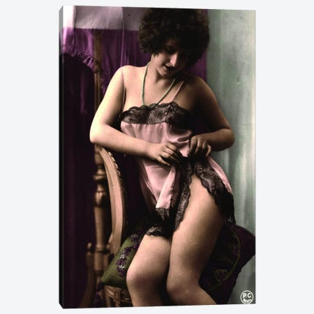 Vintage Victorian Risque 2 Canvas Print #ICA1303} Canvas Wall Art