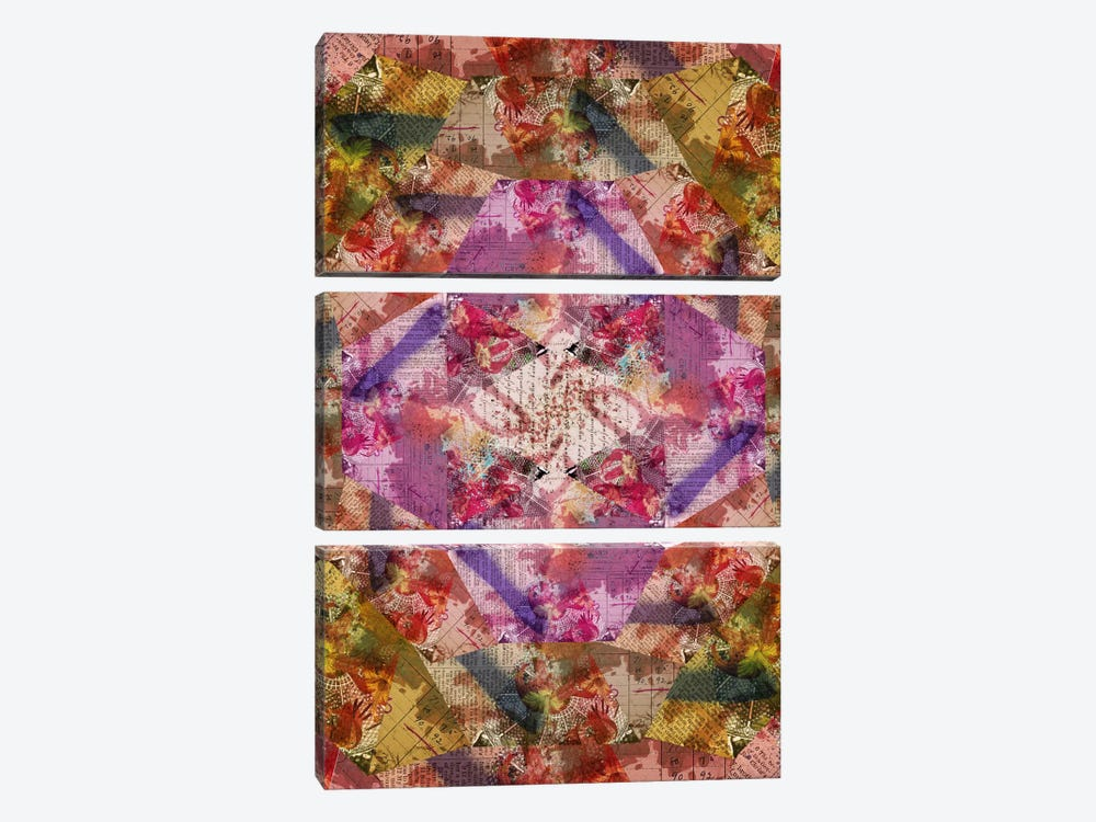 Potpourri Kaleidoscope by iCanvas 3-piece Canvas Wall Art