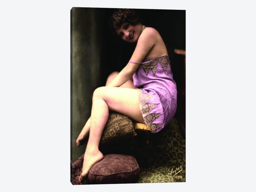 Victorian Burlesque 2 by Unknown Artist 1-piece Canvas Print