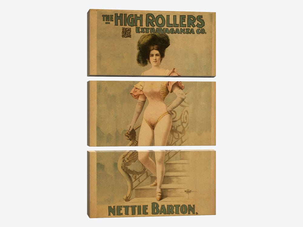Nettie Barton by Unknown Artist 3-piece Art Print