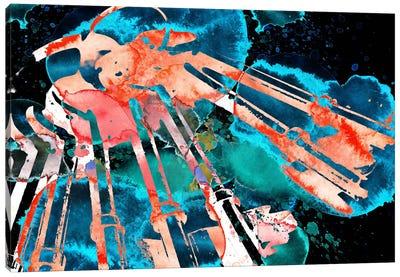 Negative Bagpipe Canvas Art Print