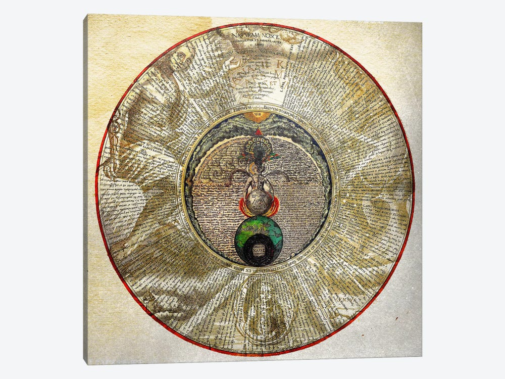 Radial Alchemy by Unknown Artist 1-piece Canvas Art
