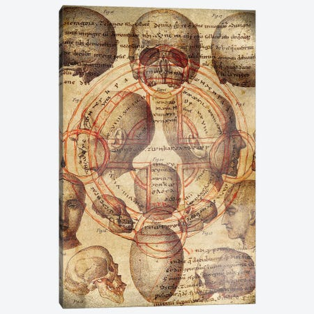 Skullified Cross Canvas Print #ICA1324} by Unknown Artist Canvas Art Print
