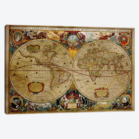 Victorian Geographica Canvas Print #ICA1325} by Unknown Artist Art Print