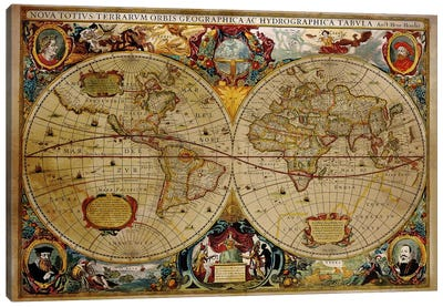 Victorian Geographica Canvas Art Print